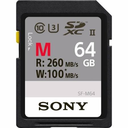 Card Sony SDXC 64Gb Class10 260MB/s UHS-II, U3 SF-M64