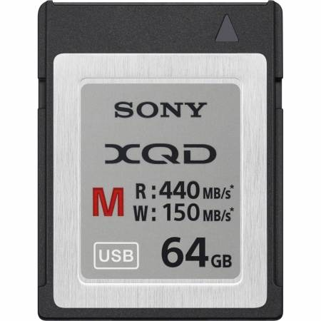 Card Sony XQD Seria M, 64GB, 440MB/s citire, 150MB/s scriere