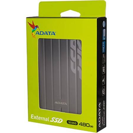 Hard disk extern ADATA SC660 480GB USB 3.0 Titanium