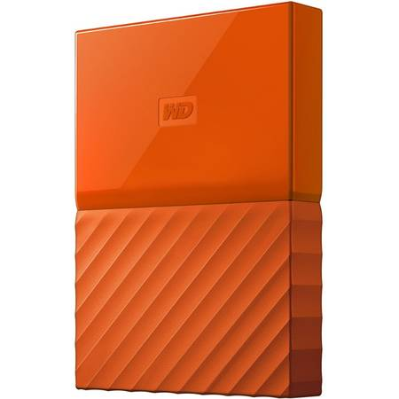 Hard disk extern Western Digital My Passport New 1TB 2.5 inch USB 3.0 Orange