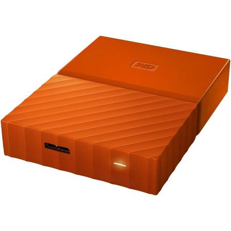 Hard disk extern Western Digital My Passport New 3TB 2.5 inch USB 3.0 Orange