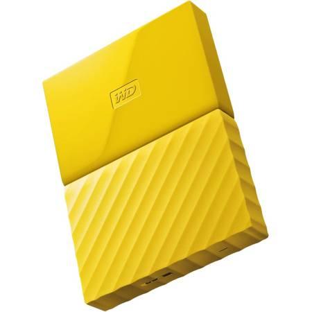 Hard disk extern Western Digital My Passport New 1TB 2.5 inch USB 3.0 Yellow