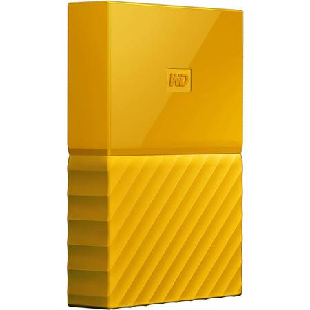 Hard disk extern Western Digital My Passport New 3TB 2.5 inch USB 3.0 Yellow