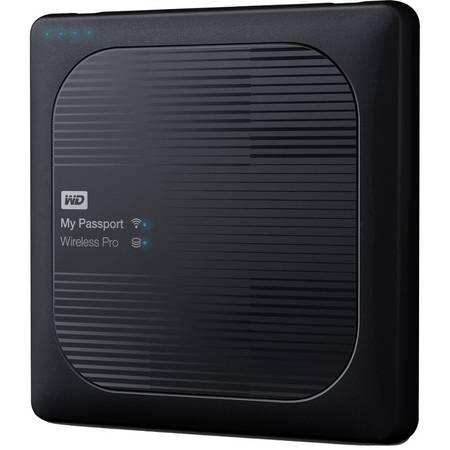 Hard disk extern Western Digital My Passport Wireless Pro 2TB 2.5 inch USB 3.0 Black