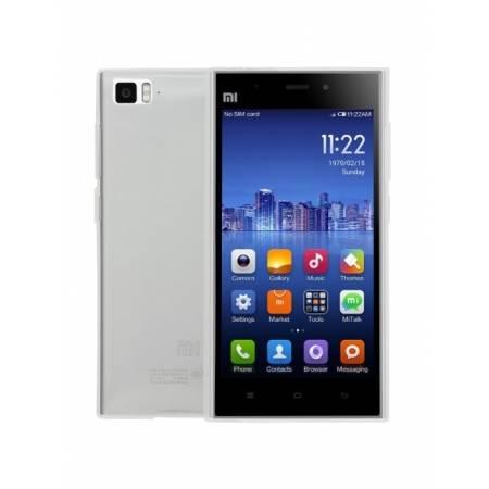 Husa Tempered Glass de protectie Slim TPU pentru Xiaomi Mi3, Transparenta