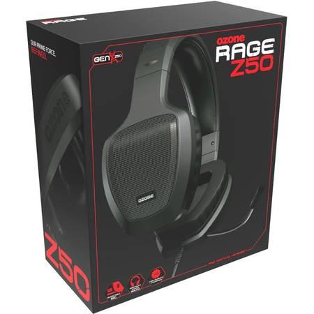Casti gaming Ozone Rage Z50 Black