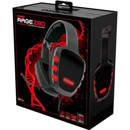 Casti gaming Ozone Rage Z90 Black