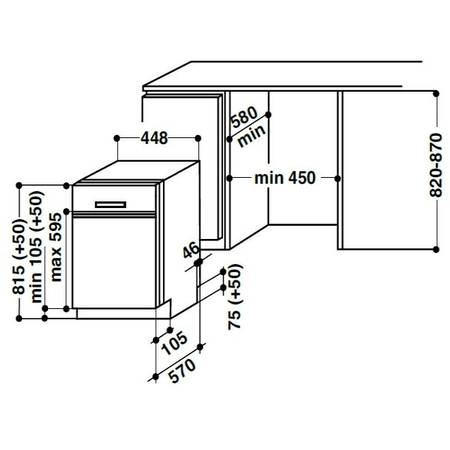Masina de spalat vase Whirlpool ADGU 851 IX 10 seturi A+ inox