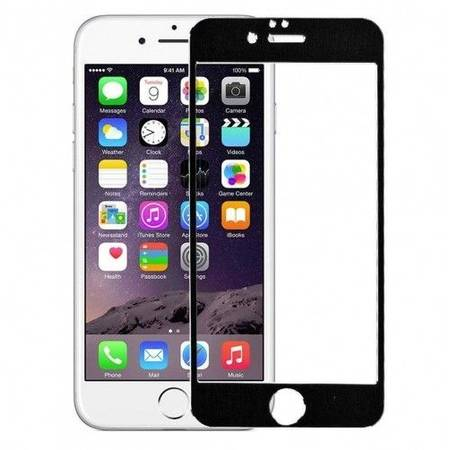 Folie protectie Tempered Glass - folie sticla pentru iPhone 6 Plus - aluminiu negru
