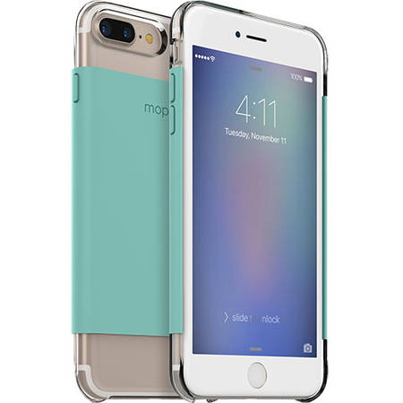Husa Protectie Spate Mophie 3678_BC-WRP-IP7P-MNT Base Case Wrap Ultra Thin Verde pentru Apple iPhone 7 Plus