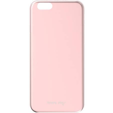 Husa Protectie Spate Happy Plugs 9040 Slim Case Deluxe Roz pentru APPLE iPhone 6 Plus, iPhone 6s Plus