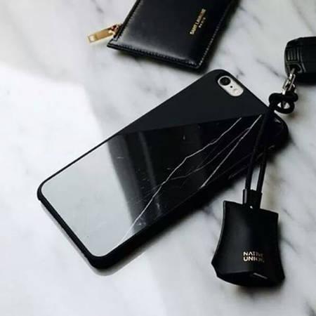 Husa Protectie Spate Native Union CLIC-BLK-MBMT-7 Marble Negru pentru Apple iPhone 7