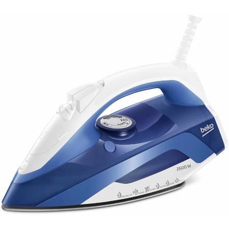 Fier de calcat Beko SIM4126B 2600W anti-picurare oprire automata Talpa Ceramica albastru/alb
