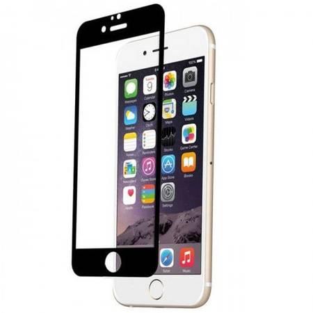 Folie protectie Tempered Glass din sticla securizata pentru iPhone 6 Plus - negru