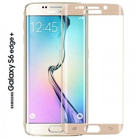 Folie protectie Tempered Glass din sticla pentru Samsung Galaxy S6 Edge Plus auriu