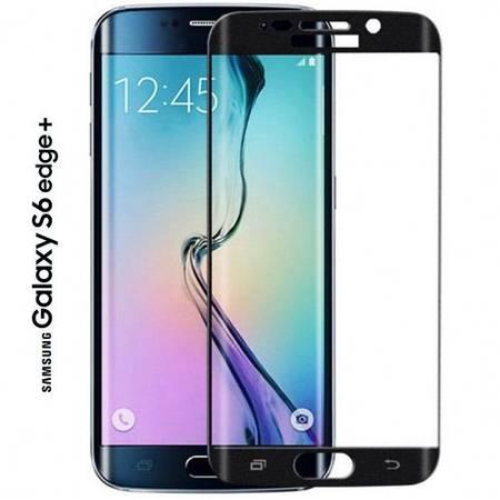 Folie protectie Tempered Glass din sticla pentru Samsung Galaxy S6 Edge Plus negru