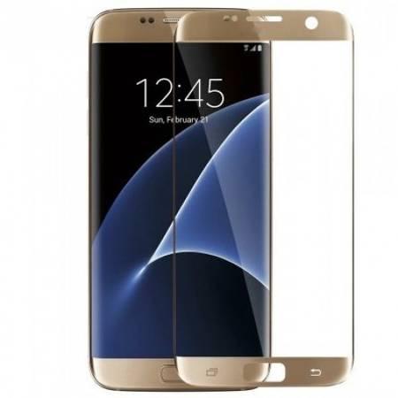 Folie protectie Tempered Glass din sticla pentru Samusung Galaxy S7 - auriu