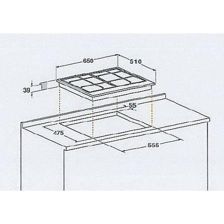 Plita Hotpoint PK 640 R GH Gaz 4 Arzatoare Aprindere electrica Inox