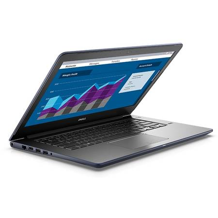 Laptop Dell Vostro 5468 14 inch HD Intel Core i5-7200U 8GB DDR4 256GB SSD FPR Windows 10 Pro Grey