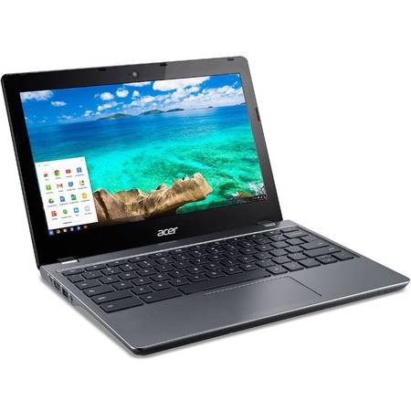 Laptop Acer Chromebook 11 C740 11.6 inch HD Intel Celeron 3215U 4GB DDR3 32GB eMMC Chrome OS Black