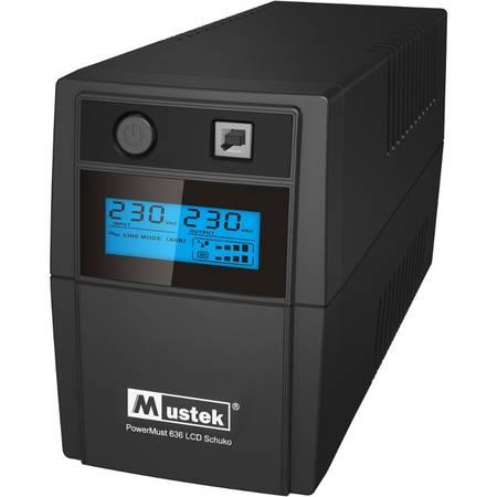 UPS Mustek POWERMUST 636 LCD LI SCHUKO