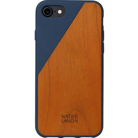 Husa Protectie Spate Native Union CLIC-MAR-WD-7 Walnut Wood Albastru pentru Apple iPhone 7