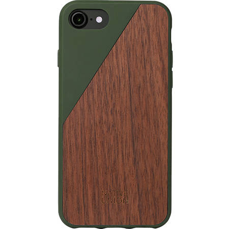 Husa Protectie Spate Native Union CLIC-OLI-WD-7 Walnut Wood Maro pentru Apple iPhone 7