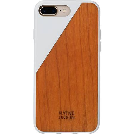 Husa Protectie Spate Native Union CLIC-WHT-WD-7P Walnut Wood Alb pentru Apple iPhone 7 Plus