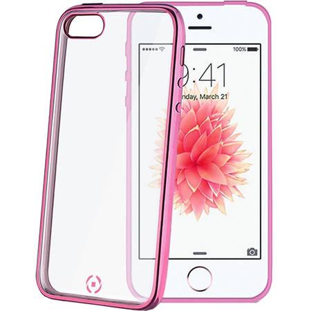 Husa Protectie Spate Celly BCLIPSEPK Bumper Roz pentru APPLE iPhone 5s, iPhone SE