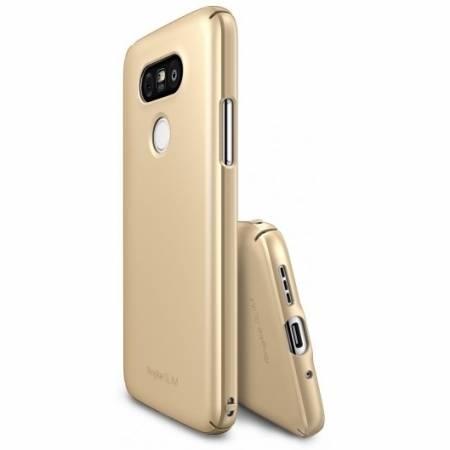 Husa Ringke pentru LG G5, auriu + Bonus Folie de Protectie Ecran