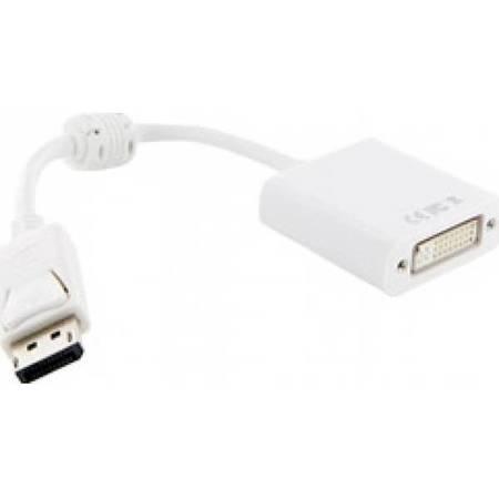 4World Adaptor DisplayPort [M]  la  DVI-I   [F]  alb