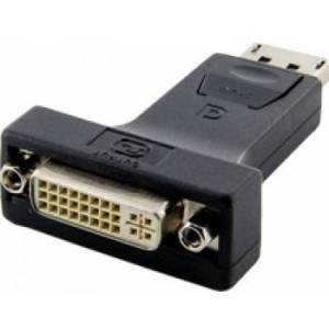 4World Adaptor  DisplayPort [M]  la  DVI-I [F]  negru