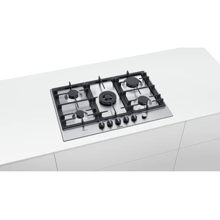 Plita Bosch PCR7A5M90 5 arzatoare gaz Inox