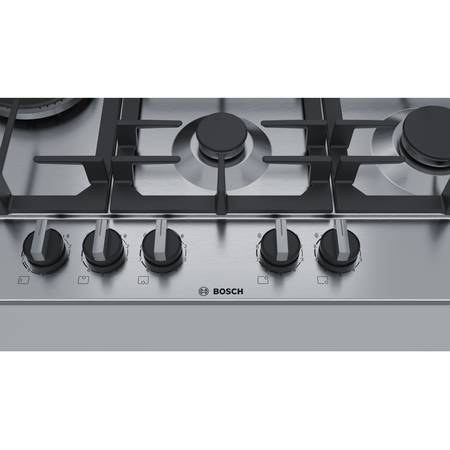 Plita Bosch PCS7A5B90 gaz 5 arzatoare Arzator WOK Inox