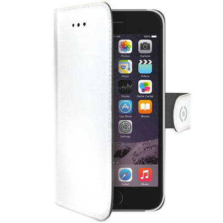 Husa Flip Cover Celly WALLY700WH Agenda Alb pentru APPLE iPhone 6, iPhone 6S
