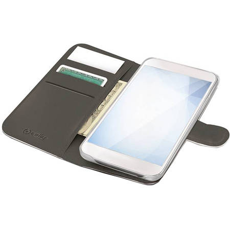 Husa Flip Cover Celly WALLY700WH Agenda Alb pentru APPLE iPhone 6, iPhone 6S