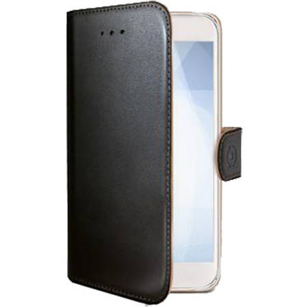 Husa Flip Cover Celly WALLY523 Agenda Negru pentru MICROSOFT Lumia 950