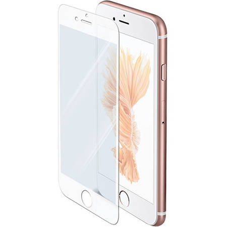 Folie protectie Celly GLASS700WH Sticla Securizata Full Glass 9H pentru APPLE iPhone 6, iPhone 6S