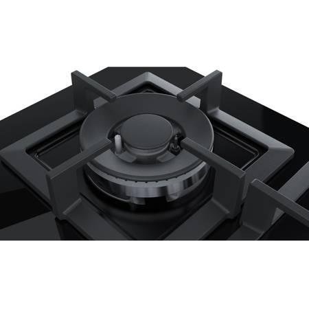Plita Bosch PPH6A6B20 4 arzatoare gaz WOK Neagra