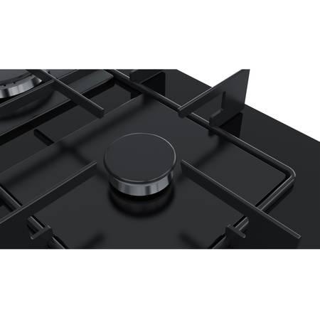 Plita Bosch PPP6A6B80 4 arzatoare gaz 60 cm Sticla neagra
