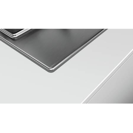 Plita Bosch PCP6A5B90 4 arzatoare gaz 60 cm Argintie