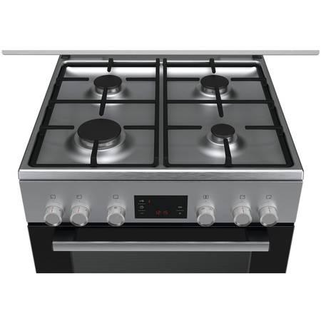 Aragaz mixt Bosch HGD745255R 4 zone de gatit 66l Inox