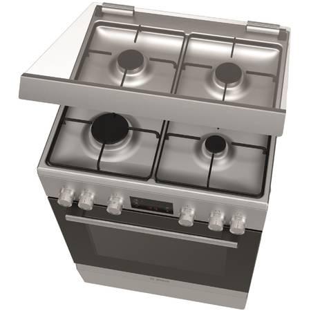 Aragaz mixt Bosch HGD745250 4 zone de gatit 66l Inox