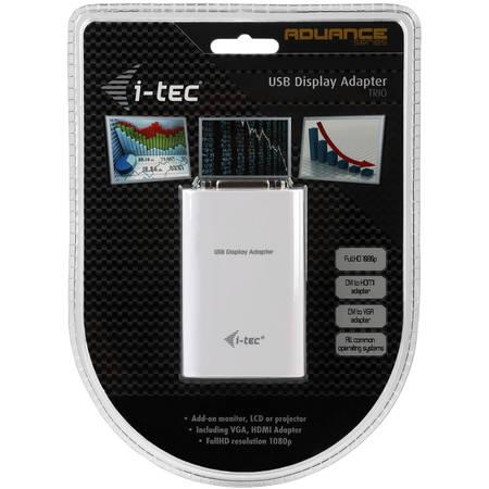 conectica Itec Adaptor  USB Full HD TRIO  DVI-I / VGA / HDMI
