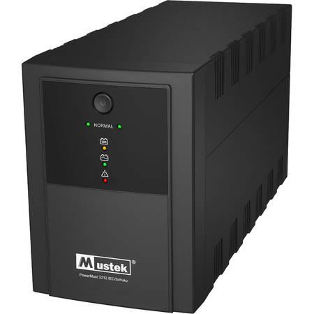 UPS Mustek POWERMUST 2212   IEC / SCHUKO  BLACK