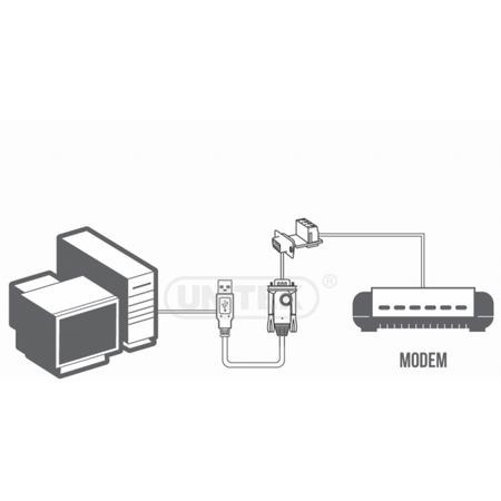 Adaptor UNITEK Y-1081 USB 2.0 Male - RS-485 Male Converter 0.8m