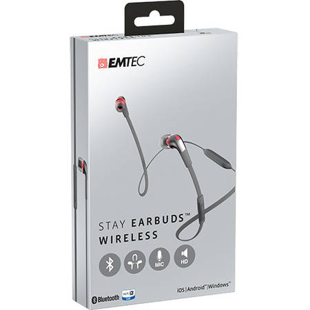 Casti Emtec Wireless In Ear Stay E200 Gri