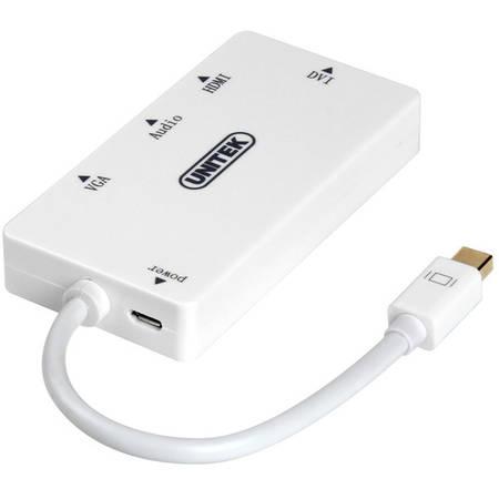 Adaptor UNITEK Y-6354 miniDisplayPort - HDMI / DVI / VGA / Audio