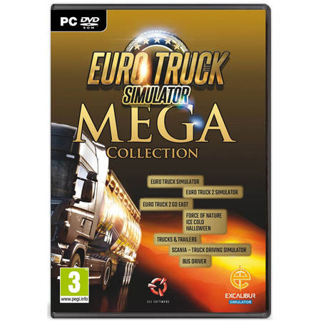 Joc PC Excalibur Games Euro Truck Simulator MEGA Collection PC