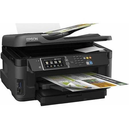 Multifunctionala Epson Workforce WF-7610DWF A3+ Inkjet Color LAN USB Wireless Negru